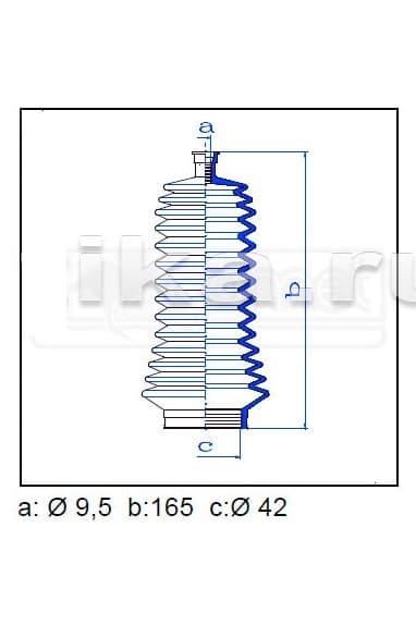 Пыльник рулевой рейки 473410E