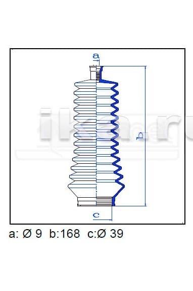 Пыльник рулевой рейки 473510C